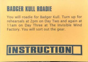 Badger Kull Roadie - Mark Cantwell