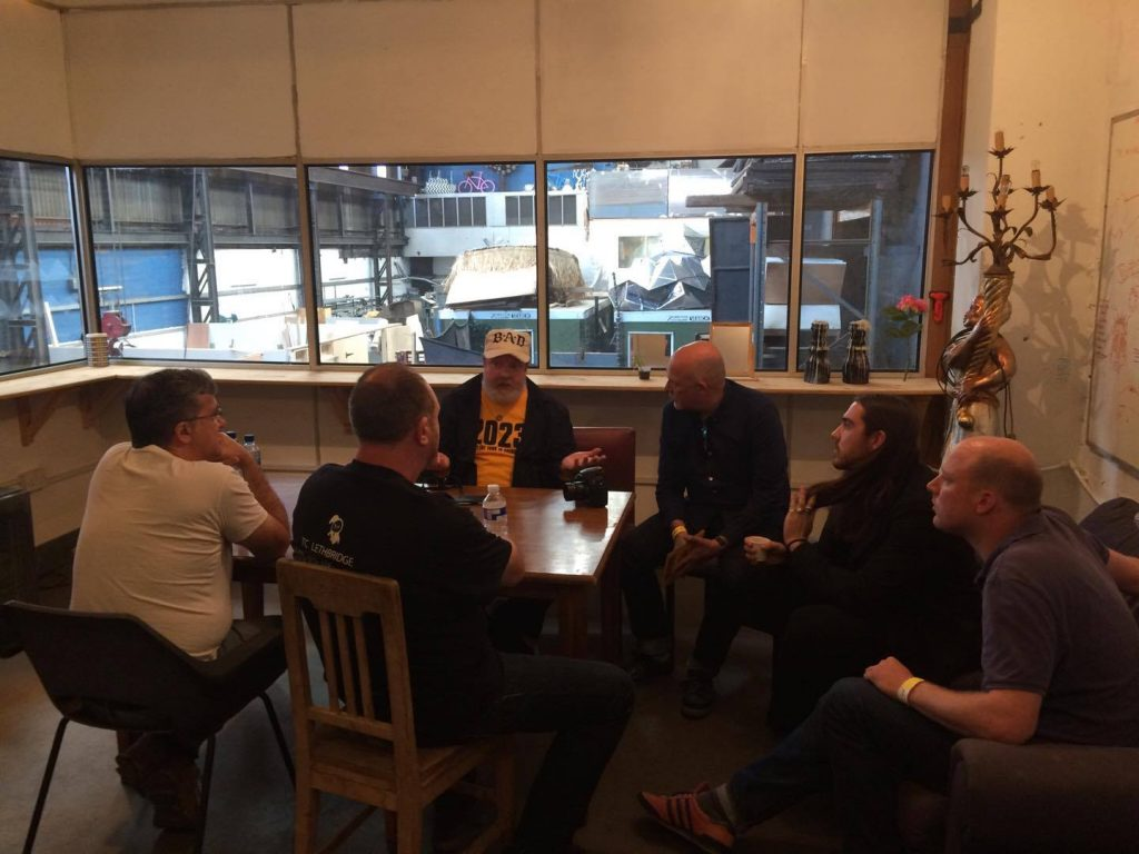 Badger Kull meeting with Pete Wylie