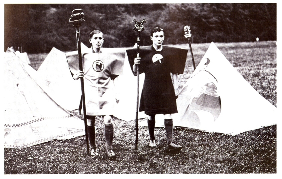 Kibbo Kift: Members at camp, 1928. Photo courtesy of the Kibbo Kift Foundation.
