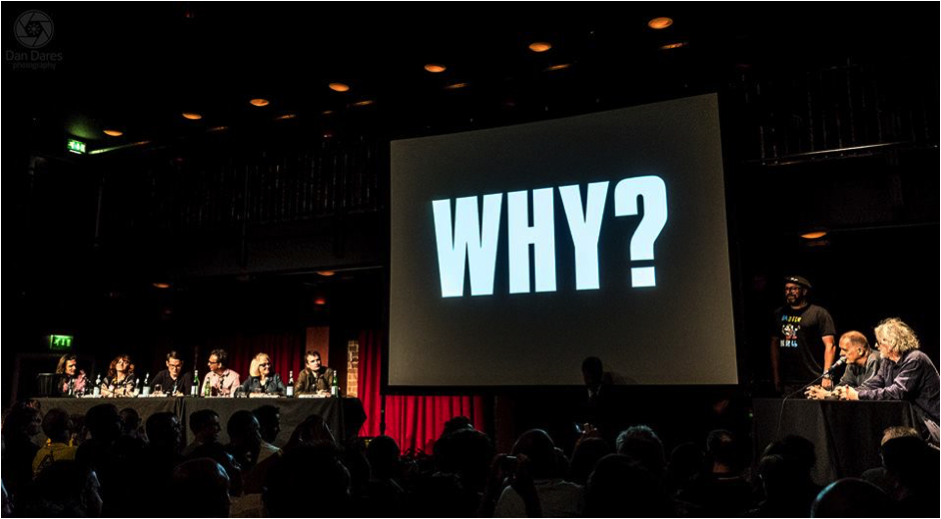 Panel: Why Did the K Foundation Burn a Million Quid? Photo by Dan Dares.