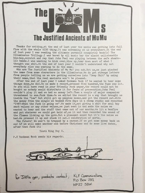 JAMs Letter