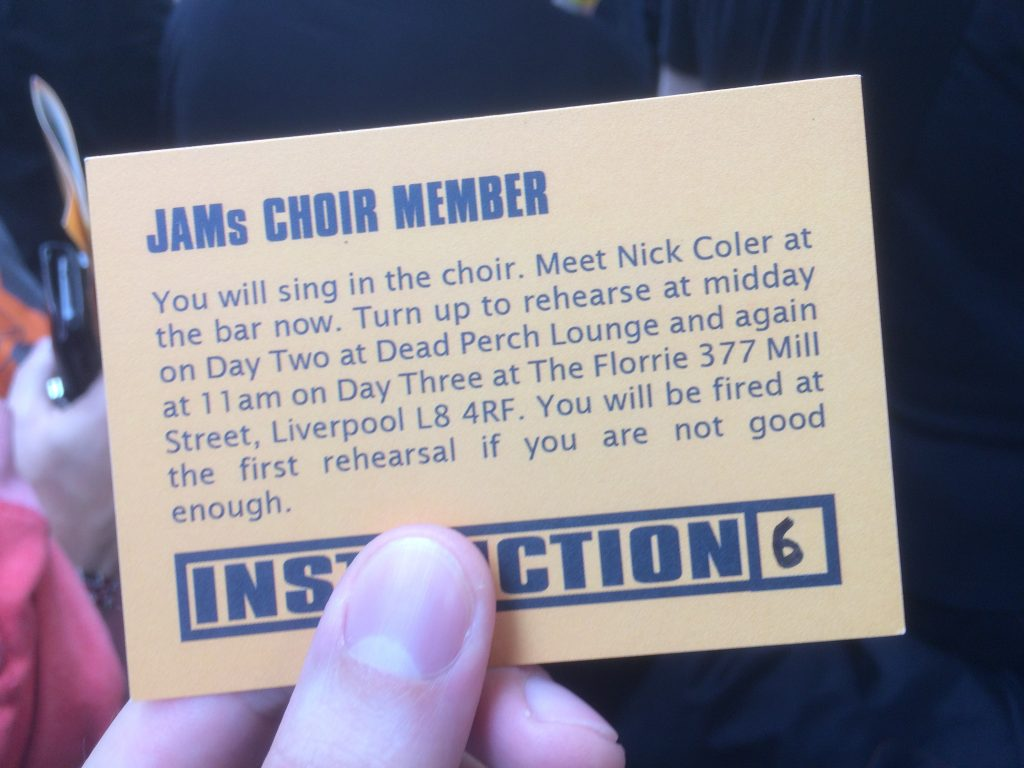 JAMs Choir Member - Job Card